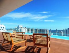 Apartamento en muy buena ubicacion, de 1 dormitorio y medio , 1baños, Toilete, Living- comedor con linda vista.