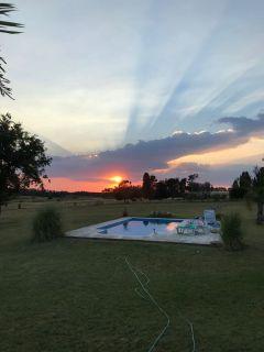 Chacra muy cerca de Ruta 104 y camino Egusquiza, cuenta con muy linda casa y piscina.