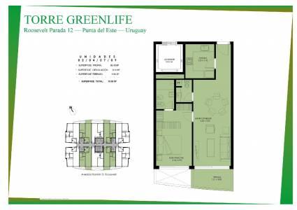 Oportunidad a Estrenar - Apartamento 1 dormitorio con 2 baños