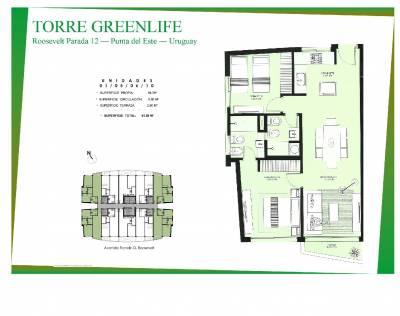 Green Life Punta del Este- Apartamento a estrenar