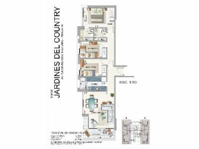 Apartamento en Roosevelt, 3 dormitorios *